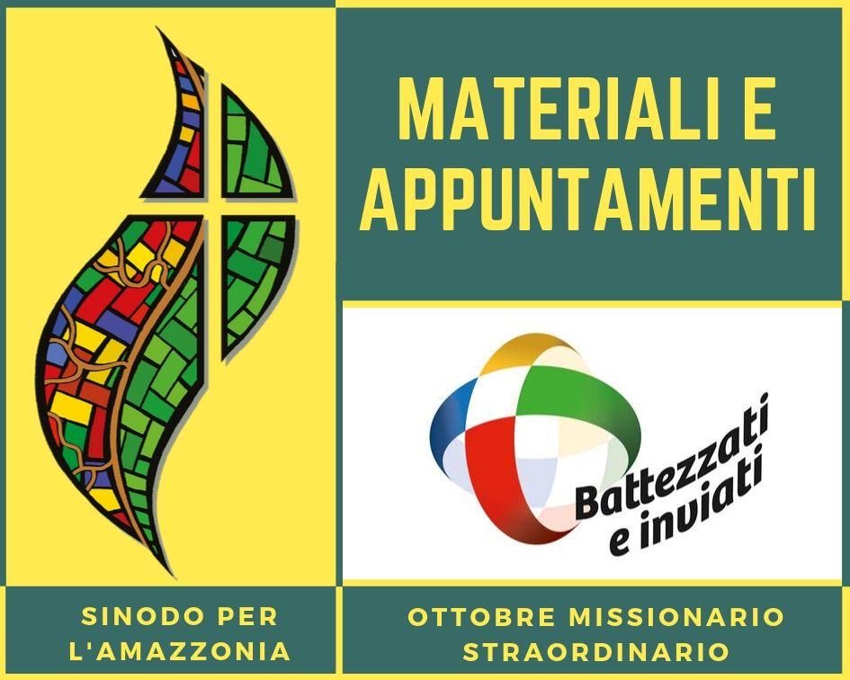 Programma ottobre missionario e Sinodo per l'Amazzonia