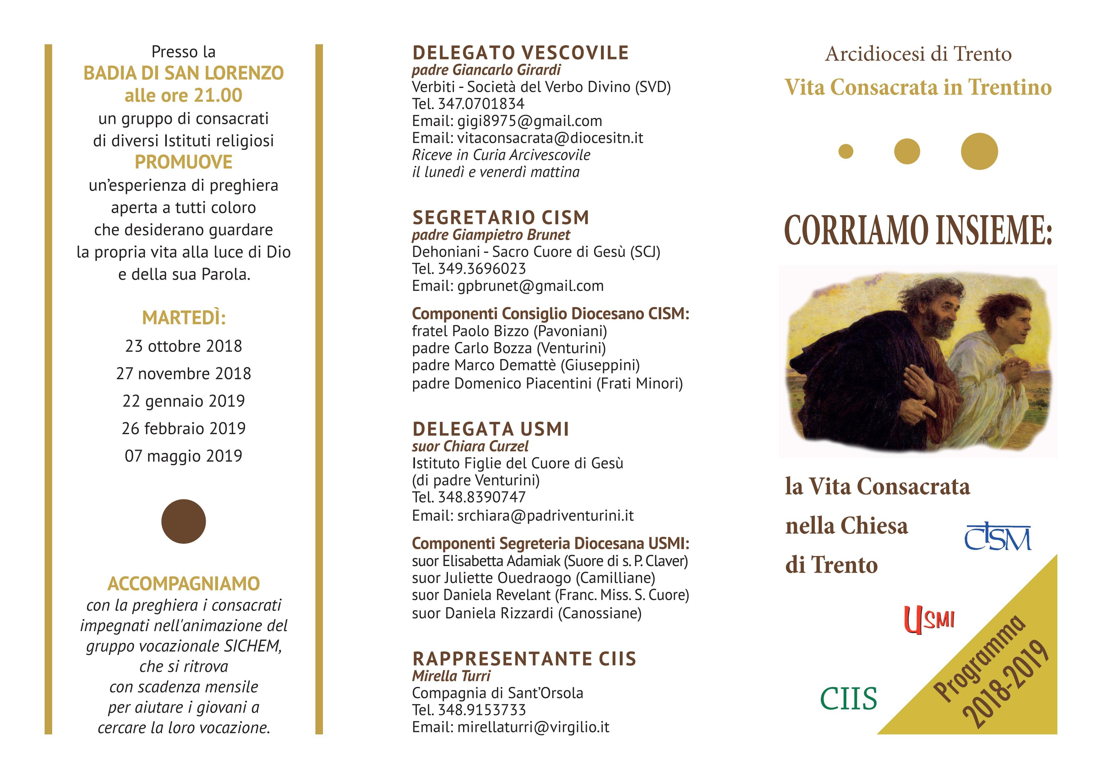 Vita Consacrata in Trentino 2018-2019