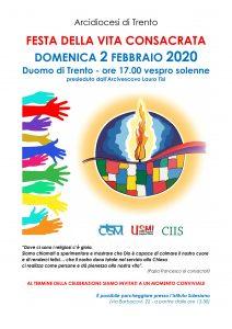 Invito Festa Vita Consacrata 2020