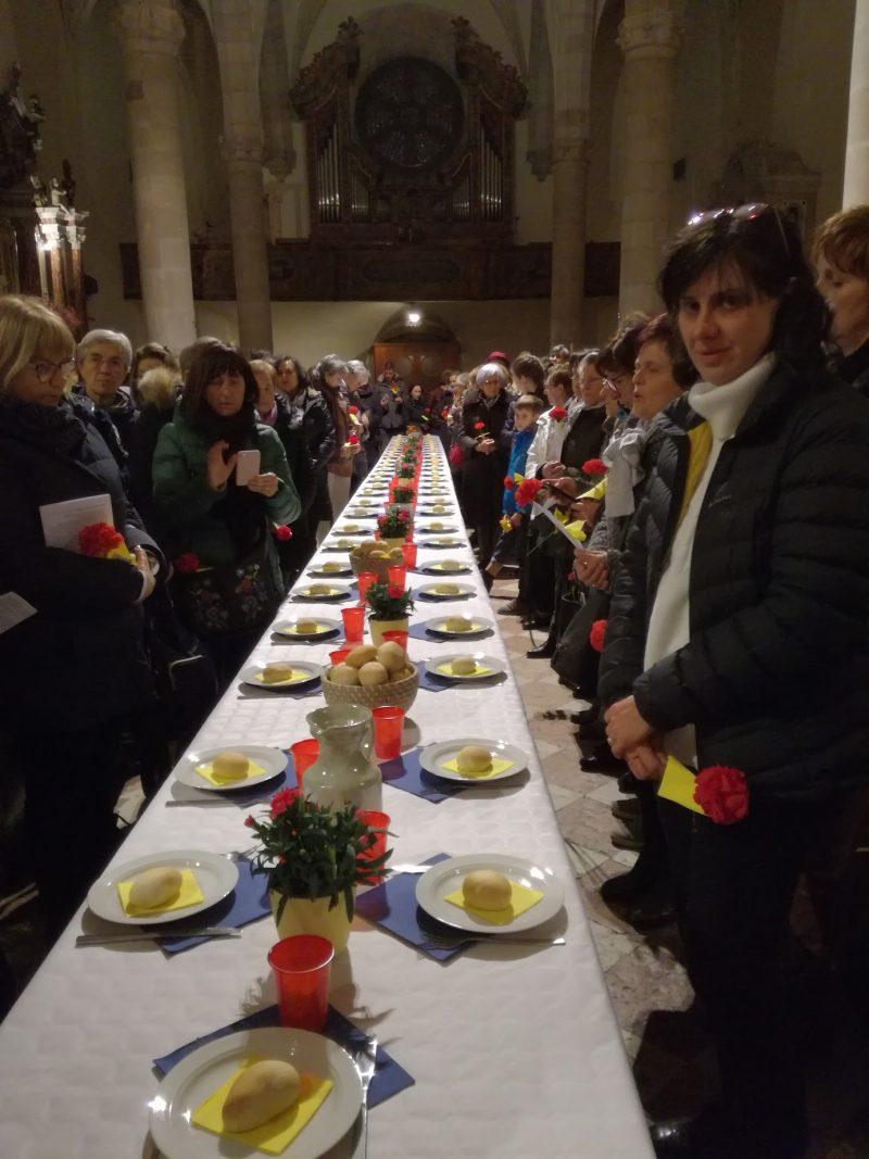 """La """"mensa"""" ecumenica delle donne a Sanzeno nel marzo 2019"""