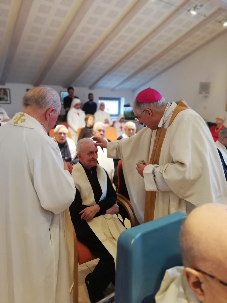 Trento, Casa del Clero, 11 febbraio 2020 - s. Messa arcivescovo Lauro Tisi in occasione della Giornata del Malato