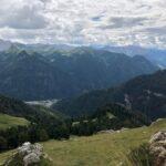 Val Fassa (Tn) dal Col Rodella. In basso Campitello di Fassa