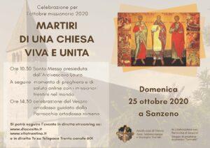 Celebrazione per l'ottobre missionario, 25 ottobre a Sanzeno